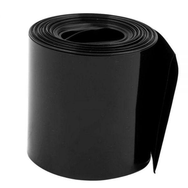 Термоусадочная трубка ПВХ черная 100 мм (диаметр 64 мм)